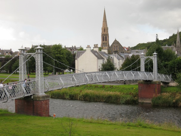 Footbridge over Tweed in Peebles