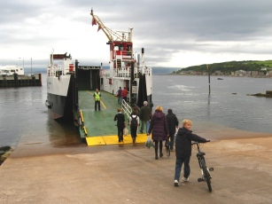 Catching the ferry to Cumbrae