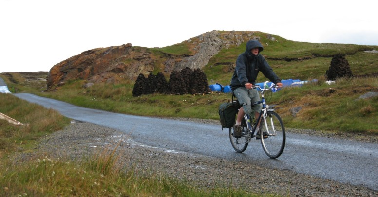 Rain legs in use on the Isle of Lewis, Outer Hebrides.