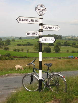 Signpost at Keasden