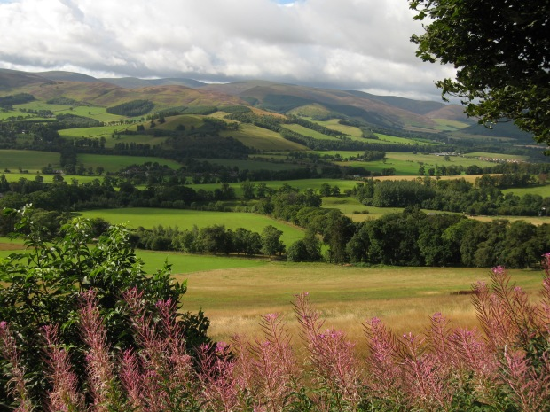 View over Tweed valley from Glentress