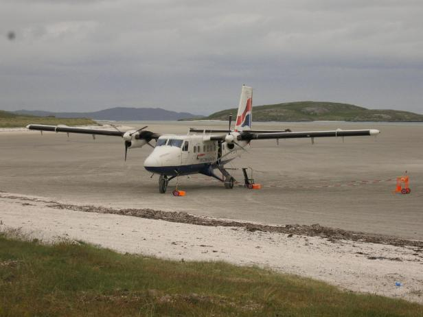 Arrival at Barra airport