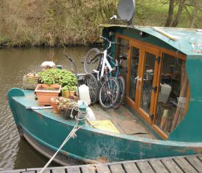 Bikes on barge