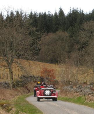 Motorists out for a spin around Loch Tummel