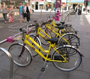 One of Blackpool's cycle hire HUBs