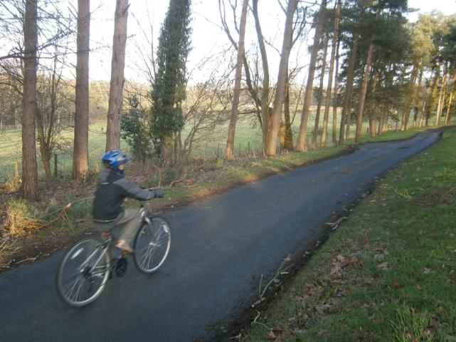 Entering Harewood estate near Weardley