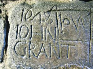 Carving in cellar of Pontefract Castle