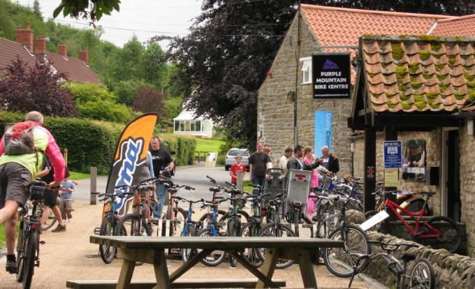Bike hire centre (now run by Dalby Bike Barn), Low Dalby