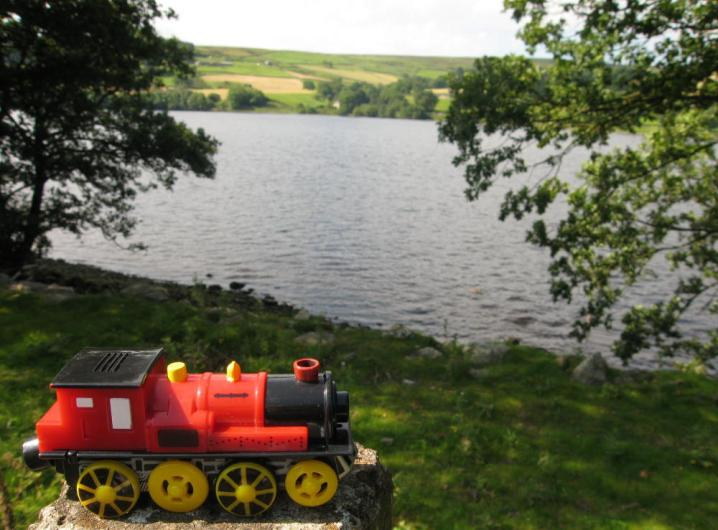 Route of the Nidd Valley Light Railway beside Gouthwaite Reservoir