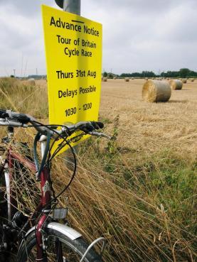 Tour of Britain sign near Birkin