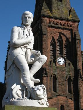Burns statue, Dumfries