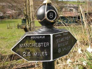 Canal milepost