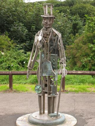 Henry Pease sculpture, Saltburn