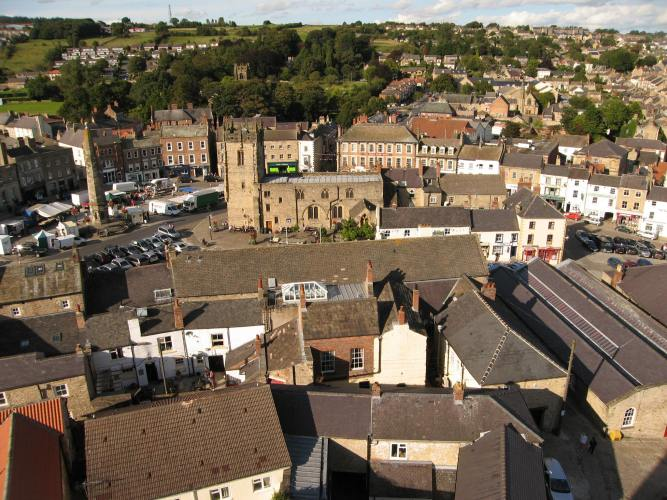 View from Richmond Castle tower
