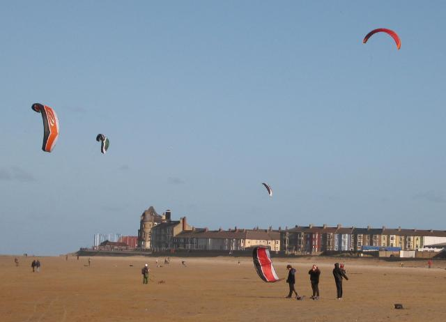 Kite-boarding at Redcar