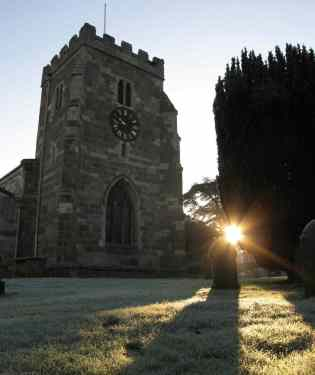 Sunrise at St Andrews Church, Aldborough