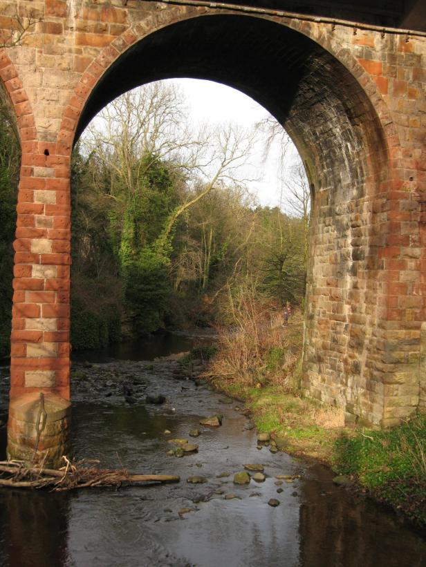 Viaduct in Spylaw Park over Water of Leith